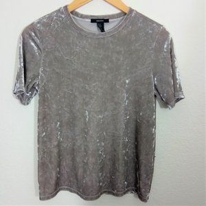 Forever 21 | Crushed Taupe Velvet Top - Small